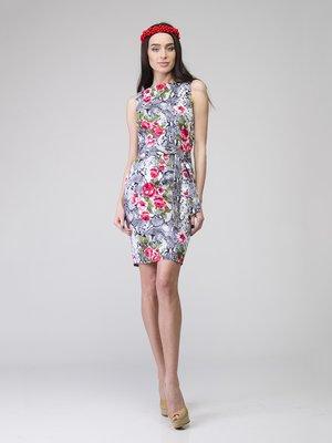 Сукня анімалістичного забарвлення в квітковий принт | 2184853