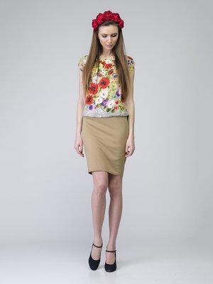 Платье комбинированной расцветки | 2184859