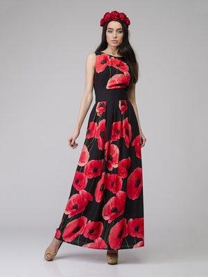 Сукня чорна в квітковий візерунок   2184895