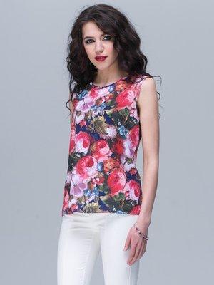 Блуза цветочной расцветки   2191244