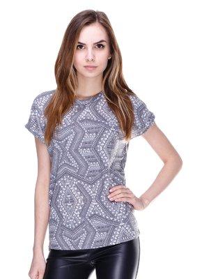 Блуза сіра з орнаментом | 2192928