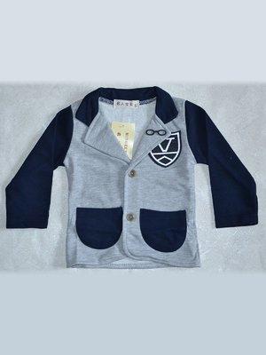 Піджак сіро-синій | 2202411
