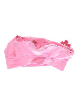 Берет розовый с вышивкой | 2212008