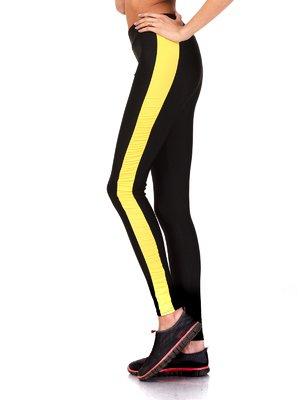 Леггинсы черно-желтые | 2217549