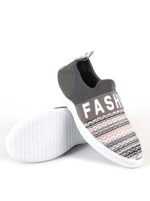 Кросівки сіро-коричневі з написом   2223487
