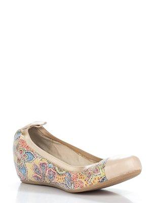 Туфлі бежеві в різнобарвний принт   2223211