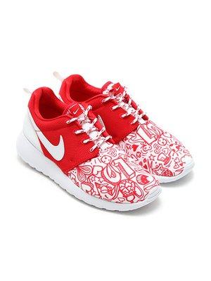 Кросівки біло-червоні Roshe One Print | 2231594