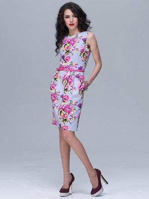 Платье сиреневое с цветочным принтом   2233846