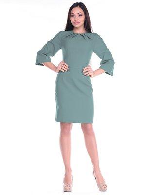 Платье оливкового цвета | 2235367