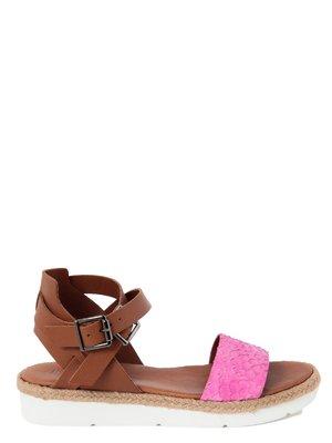 Сандалії коричнево-рожеві   2261435
