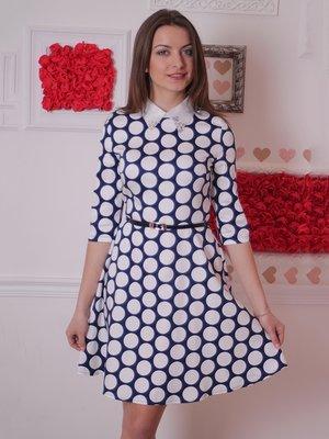 Платье синее в горошек | 2279030