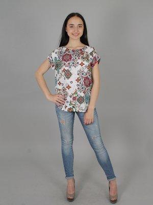 Блуза белая в принт | 2279043