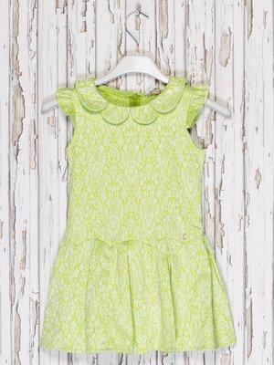 Платье салатовое в принт | 2274578