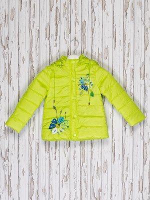 Куртка салатовая с принтом   2274581