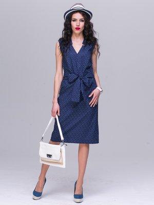 Платье темно-синее в принт   2285307