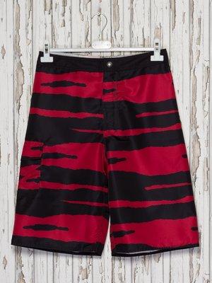 Шорти чорно-червоні купальні | 2290159