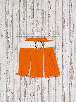 Юбка оранжево-белая | 2276005