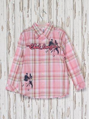 Рубашка розовая в клетку | 2275993