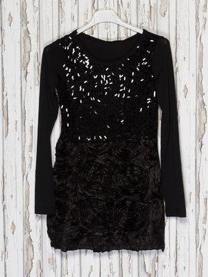 Сукня чорна з декором | 1523930