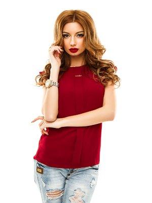 Блуза бордовая | 2305399