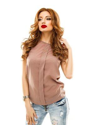 Блуза темно-бежевая   2305400