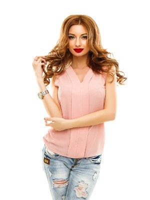 Блуза кольору пудри | 2305418