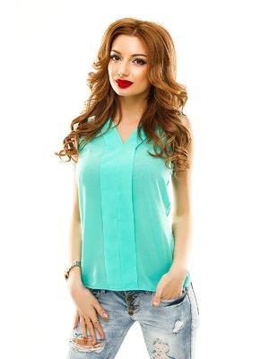 Блуза кольору м'яти | 2305426
