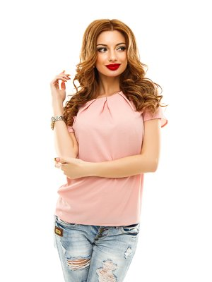 Блуза кольору пудри | 2305440