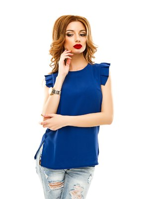 Блуза цвета электрик   2305449