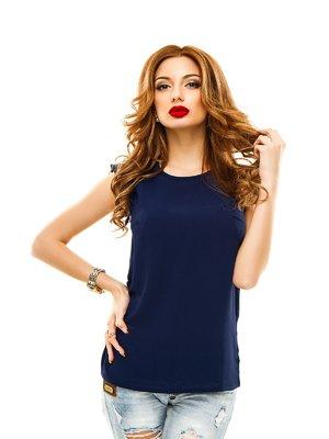 Блуза темно-синяя | 2305455