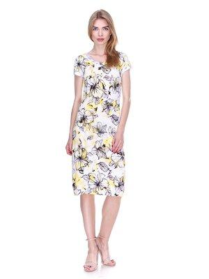 Сукня біла в квітковий принт | 2302464