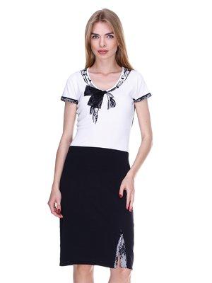 Платье черно-белое | 2302463