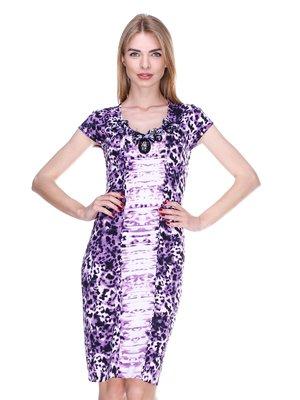 Сукня фіолетова в принт | 2302444