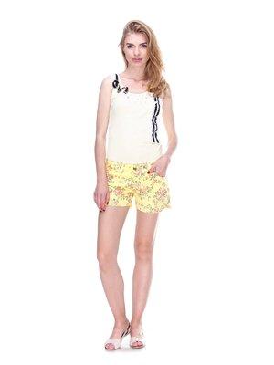 Шорти жовті з квітковим принтом   2309240