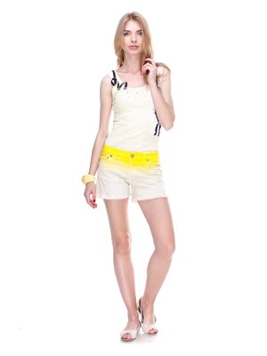 Шорти біло-жовті   2309227