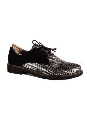 Туфли черно-серебристые | 2317654