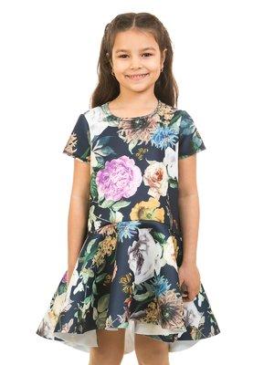 Сукня темно-синя в принт | 2318990