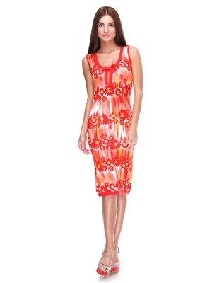 Сукня помаранчева в квітковий принт | 2316389