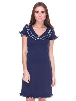 Платье темно-синее | 2316447