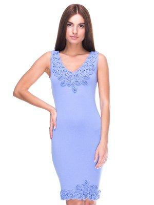 Платье голубое | 2316437