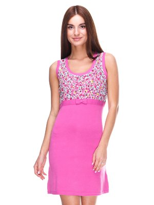 Платье розовое с цветочным принтом | 2316485