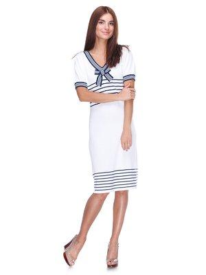 Платье белое с полосками | 2316470