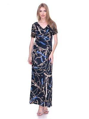 Сукня чорна в принт | 2317038