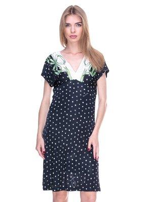 Сукня чорна в принт | 2317082