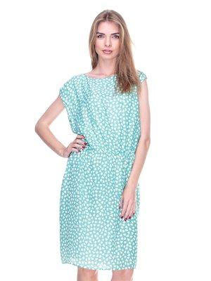 Платье мятного цвета в принт | 2317160
