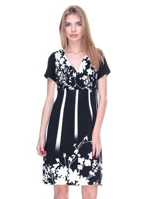 Сукня чорна з квітковим принтом | 2317084