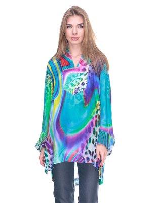 Блуза в разноцветный принт | 2317008