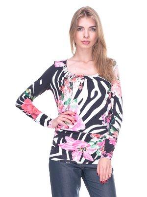Блуза комбинированной расцветки | 2317000
