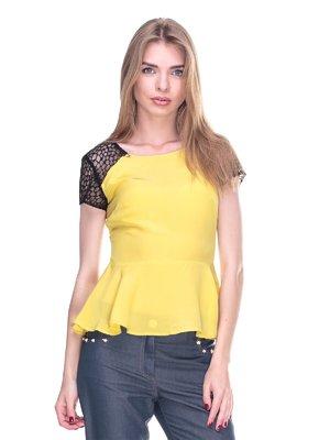 Блуза жовто-чорна | 2317048