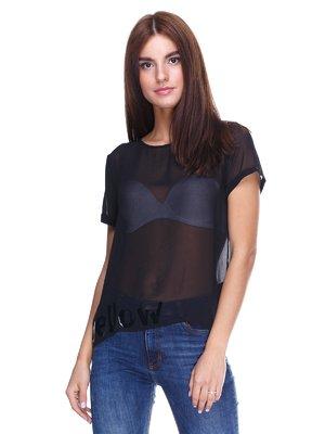 Блуза черная с надписью | 2324920